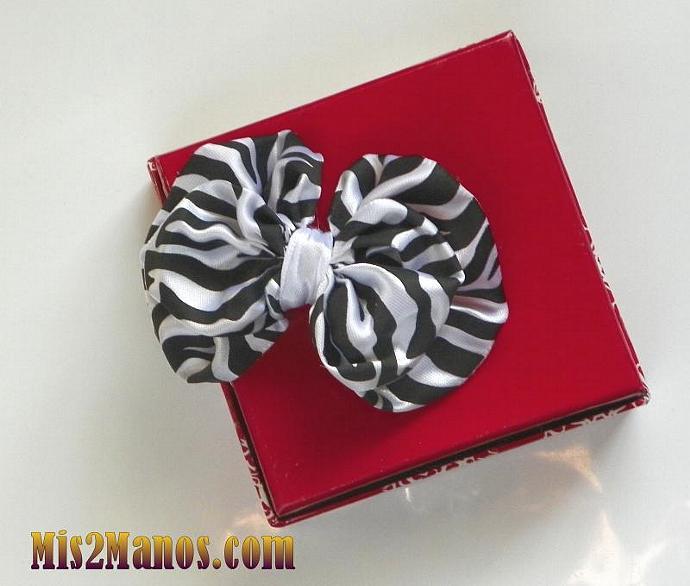 Hair Bows-Small Zebra Bow Tie for Little Girls Black Zebra Bow