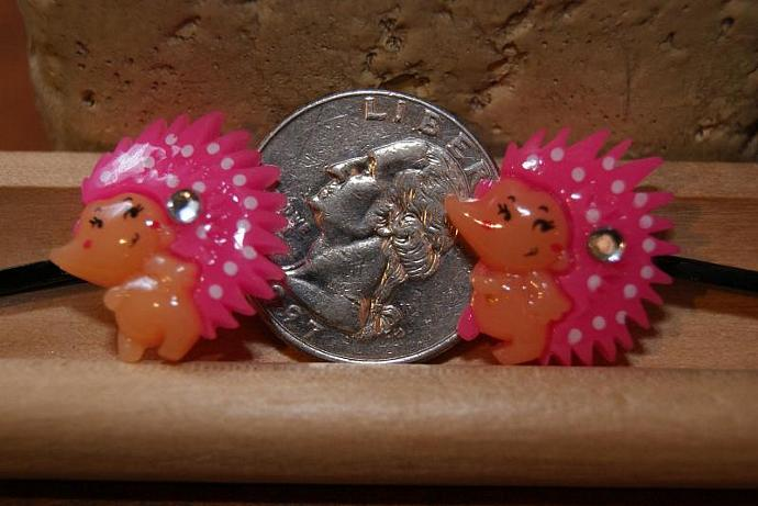 Hot Pink Porcupine Bobby Pins