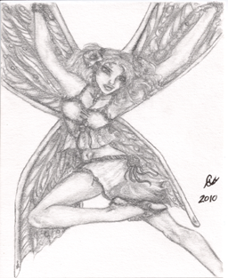 This Faerie Above, small drawing, original