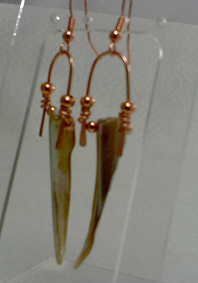Long Shell Earrings-Item # 0097