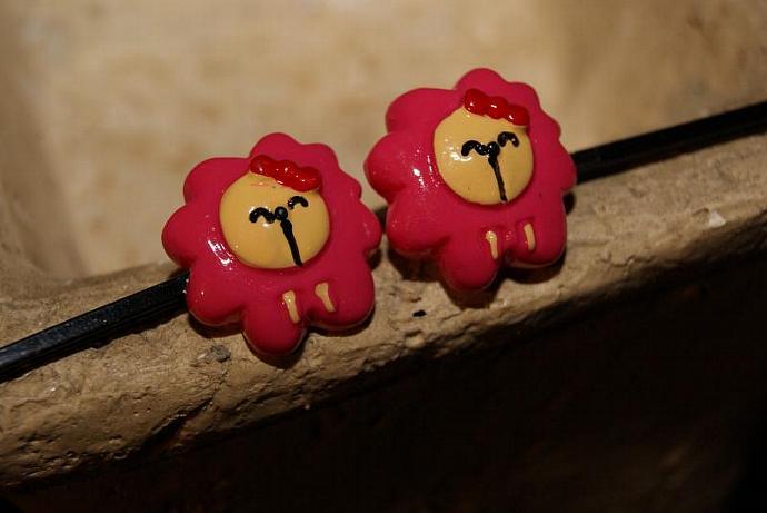 Lion Bobby Pin Set