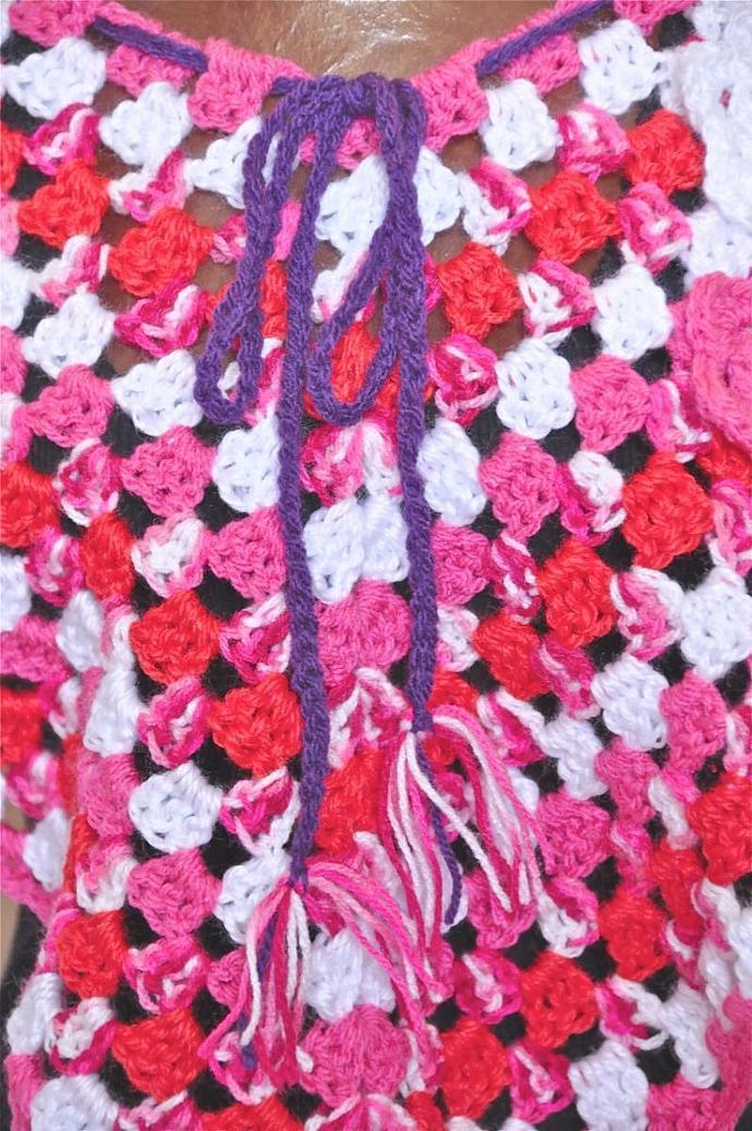 Girls Poncho - Crochet