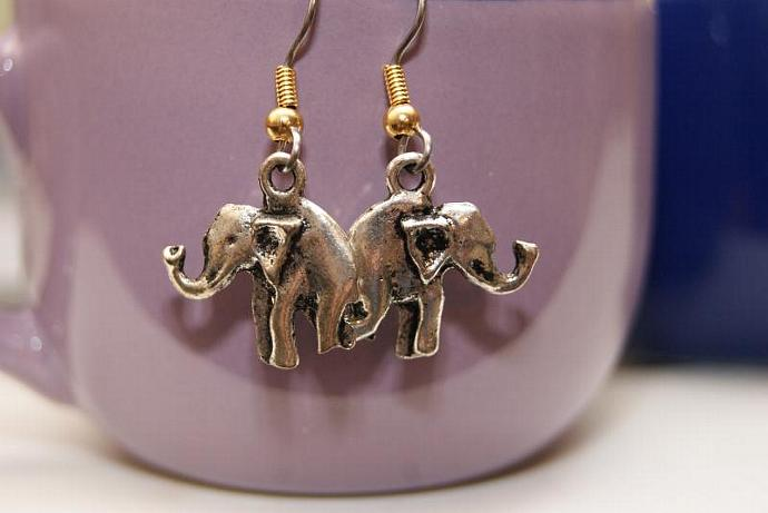 Elephant Earrings - Charm Pendant