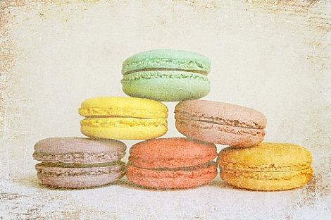 "Macaroon Cookies in Lovely Pastel Colors - Fine Art Photography 8x10"" Matte"