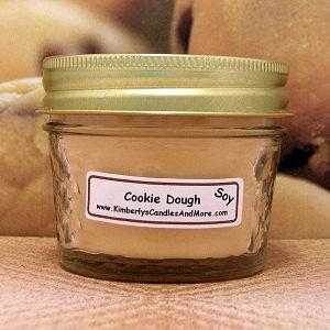Cookie Dough PURE SOY 4 oz Jelly Jar Candle