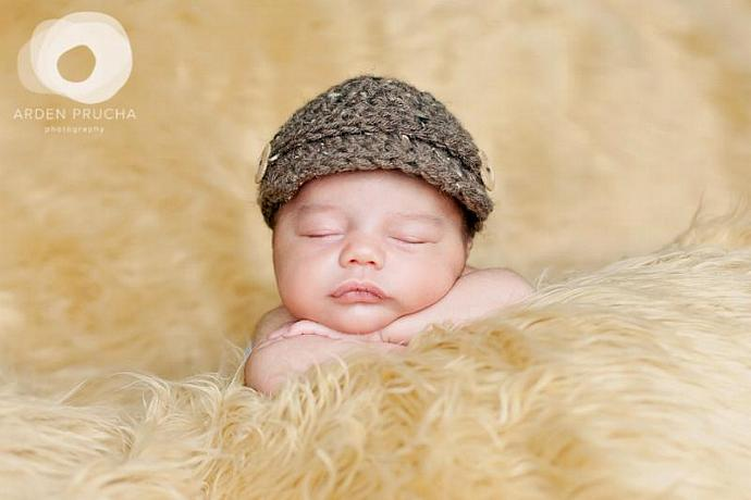 Newborn Barley Newsboy page boy cap baby beanie hat (many colors available and