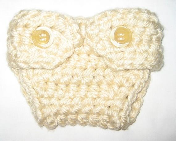 Diaper cover to match a beanie or hat