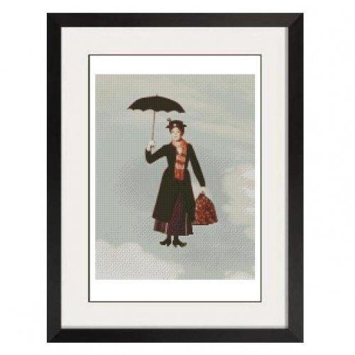 ALL STITCHES - MARY POPPINS CROSS STITCH PATTERN .PDF -366