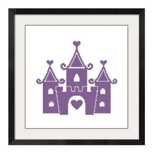 ALL STITCHES - PRINCESS CASTLE CROSS STITCH PATTERN .PDF -156