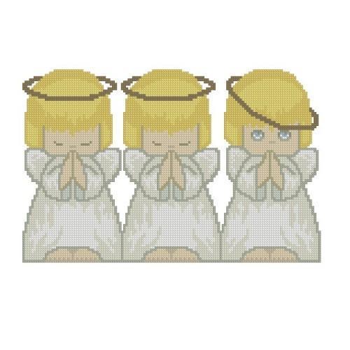 ALL STITCHES - THREE ANGELS CROSS STITCH PATTERN .PDF -270