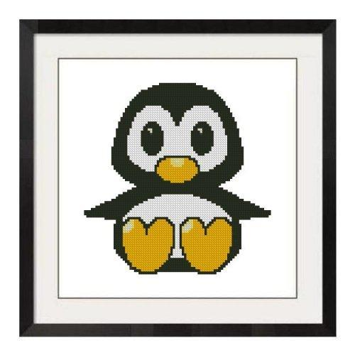 ALL STITCHES - BABY PENGUIN CROSS STITCH PATTERN .PDF -355