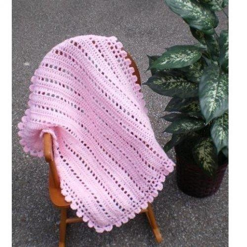 ALL STITCHES - LACEY CROCHET BABY BLANKET PATTERN .PDF -037A