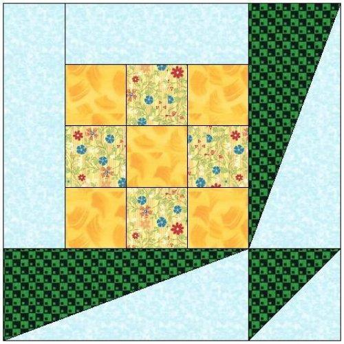 ALL STITCHES - NOSE-GAY PAPER PIECING QUILT BLOCK PATTERN .PDF -020A