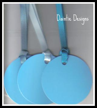 Light Blue Tags Set of 3