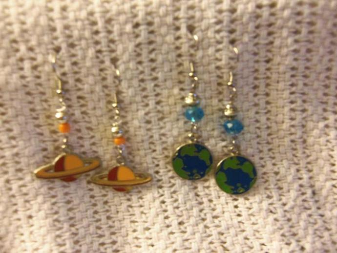 Beaded Outer Space Earrings