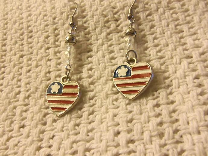 Patriotic Beaded Earrings
