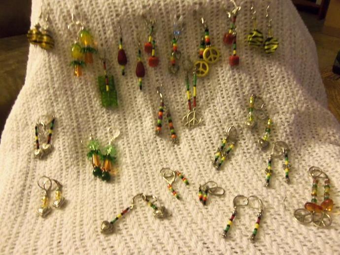 Beaded Reggae Earrings