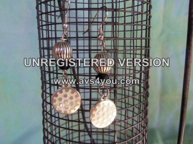 Beaded Golf Ball Earrings