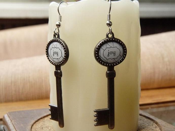 Joy of Life Key Earrings