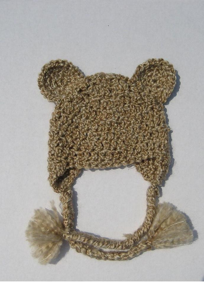 Teddy bear earflap hat