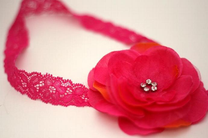Katherine Leigh Passion fruit flower/headband set