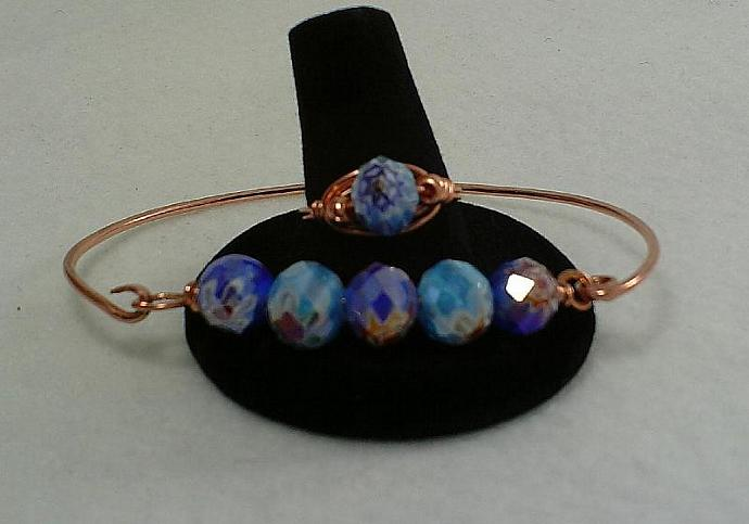 Copper Bracelet and Ring Set-Item # 0071