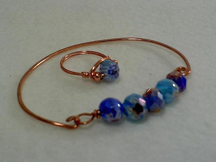 Copper Bracelet and Ring Set-Item # 0071
