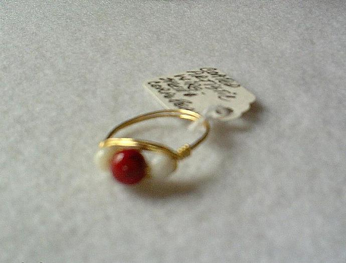 Coral and Shell Ring-Item # 0094
