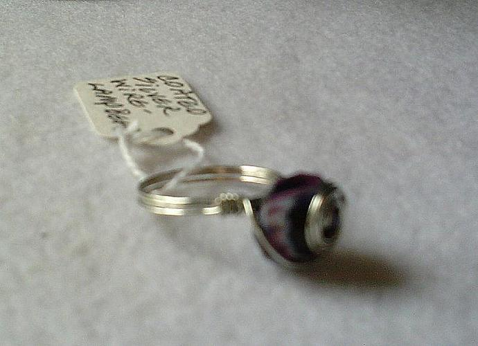 Purple Lampwork Ring-Item # 0075