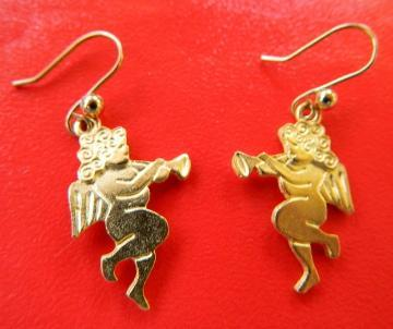 Gold  tone  cherubs  earrings