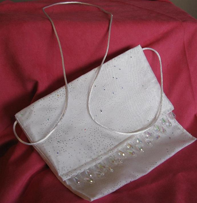 White Sparkle Evening Bag/Purse