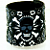 Skull & Barbed wire... Fabric Wrist CUFF