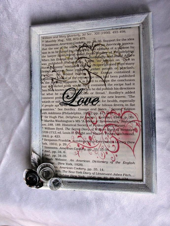 Shabby Chic LOVE Framed Print
