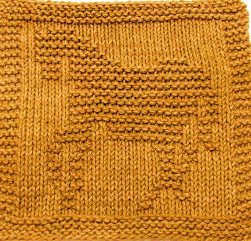 Knit Dishcloth Pattern Horse : Knitting Cloth Pattern - SHOW HORSE - PDF ezcareknits