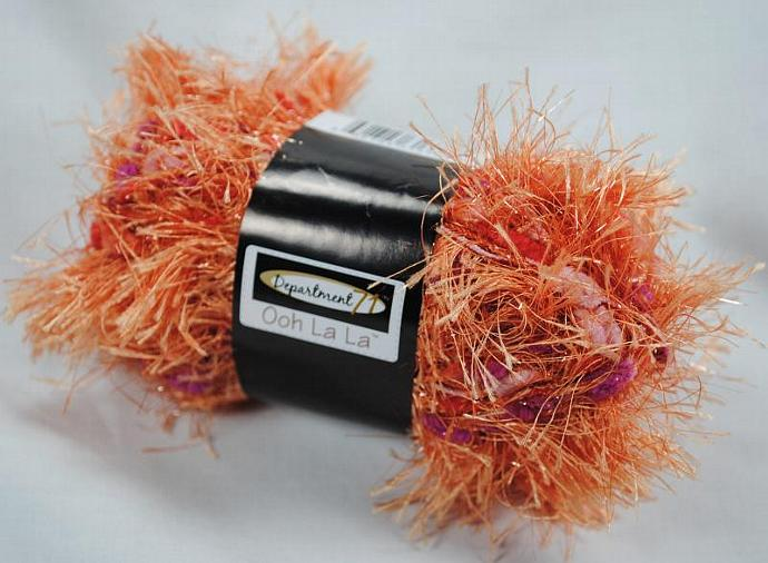 Department 71 Ooh La La Eyelash Fur Yarn - Tangerine Blast
