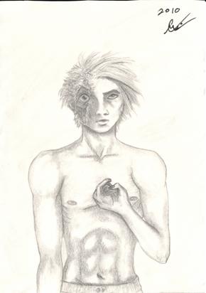 Zombie Guy, small sketch, original
