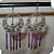 New Violet, Purple Swarovski Crystals, Porcupine Quill Earrings