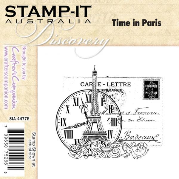 Time in Paris rubber stamp shabby chic steampunk