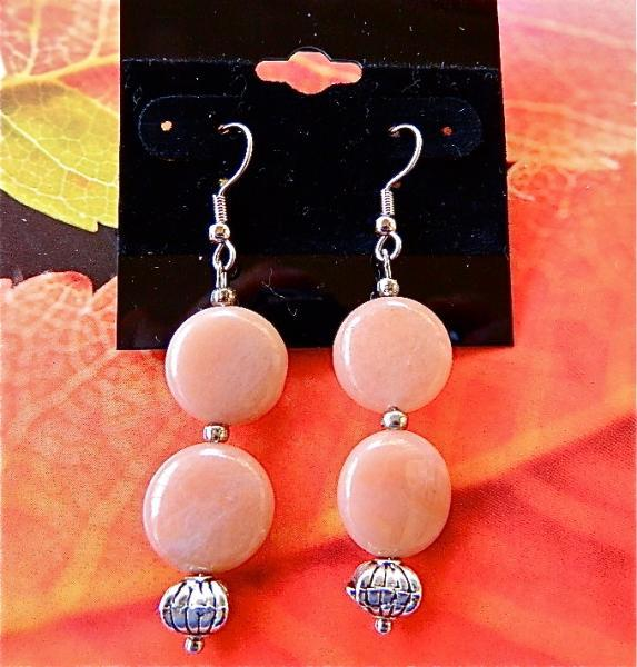 Peach  aventurine    dangle  earrings