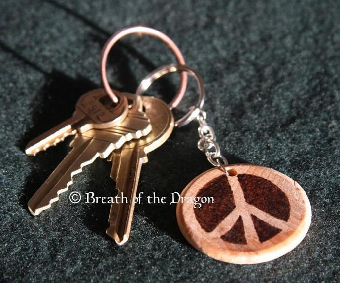 Breast Cancer Support Ribbon Keychain and Cell Charm Set