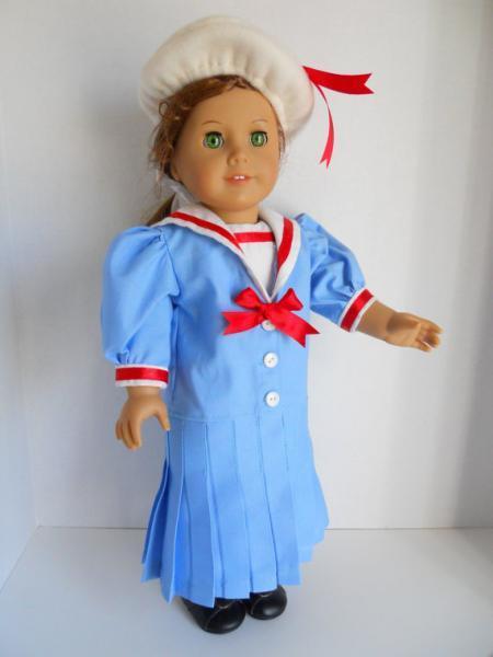 Doll Clothes 18 Inch Blue Sailor Suit Set