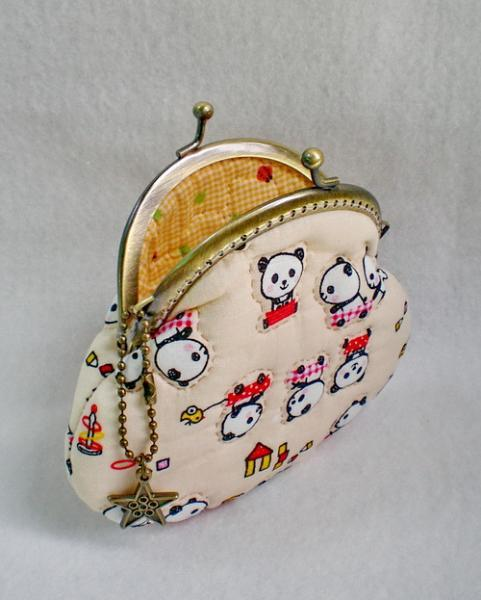 Lovely Panda Friendly Quilted Purse