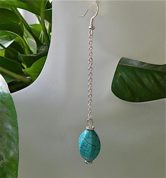 Long  turquoise  dangle  earrings