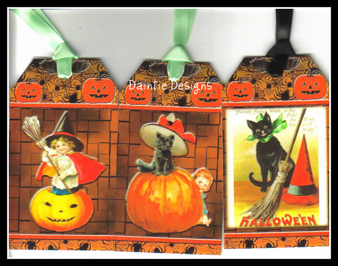 Halloween 2 Set of 3 Tags