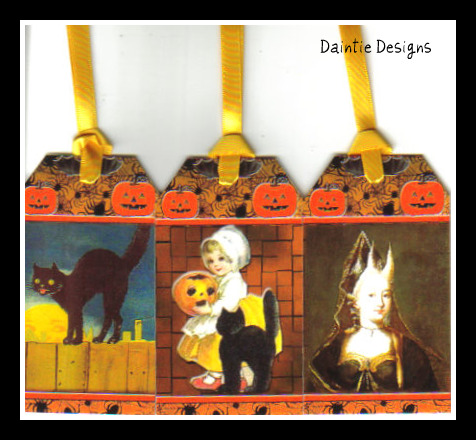Halloween 3 Set of 3 Tags
