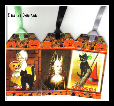Halloween 6 Set of 3 Tags