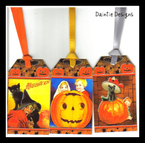 Halloween 7 Set of 3 Tags