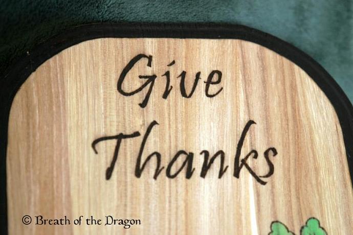 Give Thanks Cornucopia Plaque