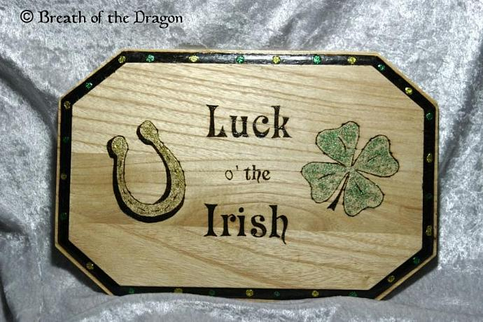 Luck o' the Irish plaque