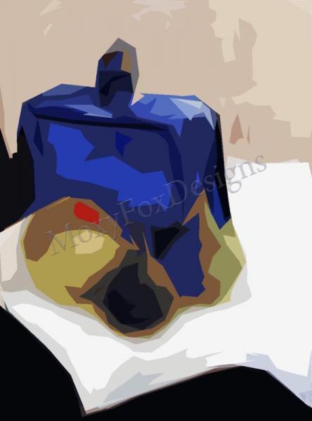 Art -- THE IN CROWD  Fine Art Print Still Life Contemporary Glass Bottle Fruit